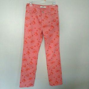 Levi's 512 straight leg pink floral print jeans